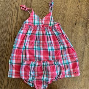 Tommy Hilfiger plaid dress 3T spaghetti strap